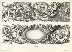 French decorative composition after LePautre, 17th century / 1870