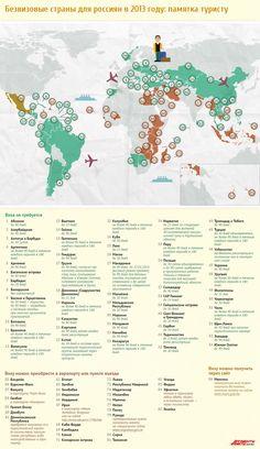 Список безвизовых стран для россиян: памятка туристу на 2013 год. Инфографика | Вопрос-Ответ | Аргументы и Факты
