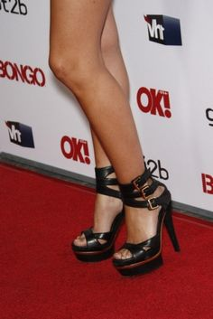 Audrina Patridge #shoes #fashion #celebrity #heels #black