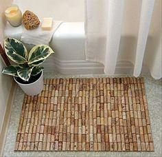 4 wine cork shower mat