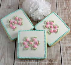 Simply Sweets by Honeybee: Shabby Chic Cookies {Simply Sweet Saturdays}