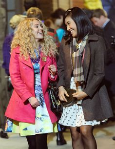 AnnaSophia Robb and Ellen Wong Film 'The Carrie Diaries'