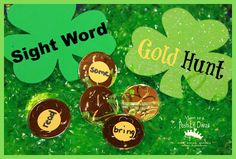 let kids have fun playing to learn with a Sight Word Gold Hunt