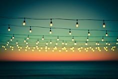 #lights #sea #dusk