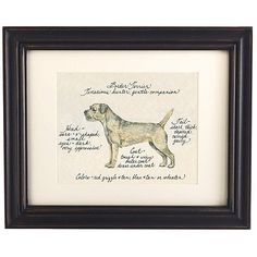 Border Terrier Dog Print - My holiday splurge!  Have had my eye on for some time now...