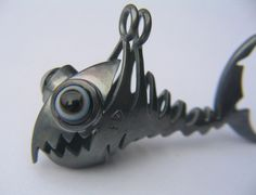 fishbone pendant, silver, layer-gemstones  www.fish-for-fun.com