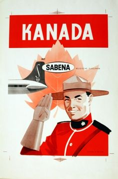 Original Vintage Posters -> Travel Posters -> Canada by Sabena - AntikBar Vintage Travel Posters, Vintage Ads, Vintage Airline, Retro Posters, Airline Travel, Travel And Tourism, Air Travel, Posters Canada, Tourism Poster