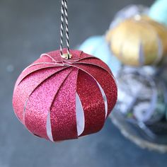 Origami Christmas Ornament, Kids Christmas Ornaments, Paper Ornaments, Christmas Cards To Make, Handmade Christmas, Christmas Crafts, Christmas Ideas, Christmas Tree, Ornament Crafts