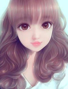 Kawaii # edit hair # repost # Me as Kawaii # secret app # Face revel Cute Manga Girl, Cute Girl Drawing, Cartoon Girl Drawing, Kawaii Anime Girl, Anime Art Girl, Anime Girls, Cartoon Girl Images, Cute Cartoon Girl, Cute Love Wallpapers
