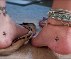 Matching anchor tattoos for best friends...cuteee and best place to put them!!!