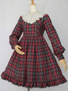 British Check Doll OP by Victorian Maiden Girls Dresses Sewing, Stylish Dresses For Girls, Little Girl Dresses, Victorian Children's Clothing, Victorian Fashion, Old Fashion Dresses, Fashion Outfits, Smocked Baby Dresses, Kids Dress Wear