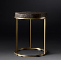 Nicholas Oak Round Side Table