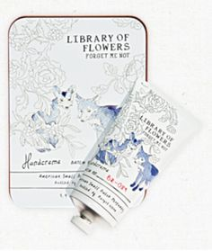Forget Me Not Handcreme by Library of Flowers #libraryofflowers #handcreme #osmanthus #ricepowder #whiteorchid #maripoza #boutique #rgv #gift