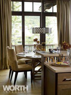 Dining room lighting: Kyoto Pendant | Boyd Lighting. Interior design by Worth Interiors. Photo by Stovall Studio