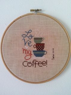 My first hoop!.....present for my coffee pal Francy! :-)