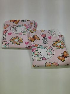 Pink elephant burp rags- set of 2, baby shower gift, baby feeding, elephant burp rags, burp cloths, burp rags, Indian elephant burp cloths by RoseCityCrafter on Etsy