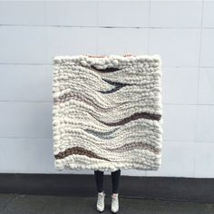 Large woven wall hanging // weaving by Jeannie Helzer // @jeanniemakes