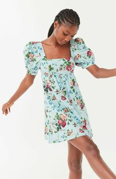 Dressy Dresses, Nice Dresses, Dresses With Sleeves, Bella Dresses, Urban Dresses, Urban Outfitters Dress, Long Sleeve Mini Dress, Laura Ashley, Babydoll Dress