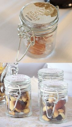Wine Themed Mini Glass Bottles (Set of 12 - 5 Colors) from Wedding Favors Unlimited