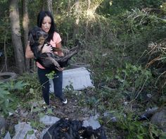 marina  women rescues Dogs from mass grave dumping site in Dallas Texas