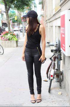 Danier Leather Pants Street Style