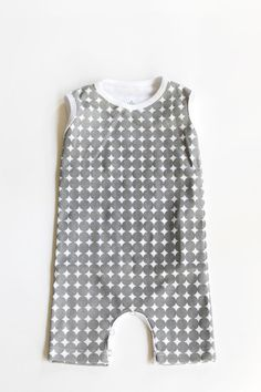 The Cozy Romper // Charcoal Dot // LHS Basics Collection
