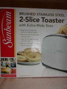 Sunbeam 2 Slice Toaster Black & Stainless Steel TSSBTRSB03