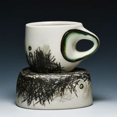 Audrey Rosuleck; I like the relationship made between the bowl and cup with those marks.