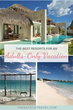 Here are the best resorts for your adults-only vacation including ones ideal for honeymoons, bachelorette parties, groups, and anniversary trips. Best Carribean Vacation, All Inclusive Carribean Resorts, Best All Inclusive Honeymoon, Best Honeymoon Destinations, All Inclusive Vacations, Best Resorts, Vacation Places, Romantic Destinations, Carribean Honeymoon