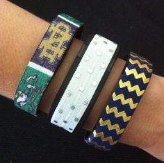 NEW! Fitbit Alta, Flex, Charge and ChargeHR Elastic Bands, Set/3:  Irish (ND01)…