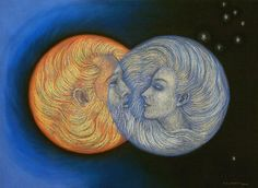 SOLAR ECLIPSE occurs with a new moon when both Sun and Moon are connected and balanced.