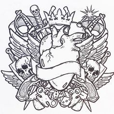 Tattoo Designs - Adult Colouring Book - Colour Me Awesome