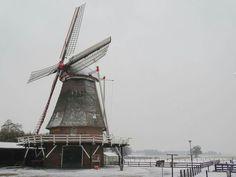 De Leemansmolen in Vriezenveen in de  winter van 2017
