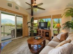 The lanai features majestic views of the mountains and waterfalls. Two master suites! Remodeling Contractors, Home Remodeling, Kauai Vacation Rentals, Gated Community, Townhouse, Condo, Interior Design, Instagram, Home Decor