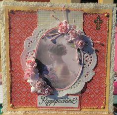 Confirmation card, rippikortti tytölle