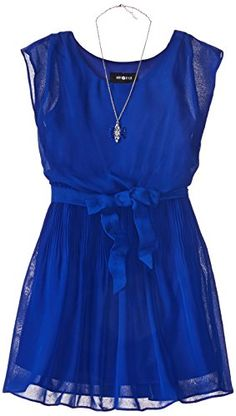 Amy Byer Big Girls' Solid Blouson Dress, Cobalt, 16 Amy Byer http://www.amazon.com/dp/B00YGHVGJW/ref=cm_sw_r_pi_dp_d999vb12KA05Q