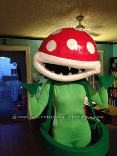 Fantastic Mario Bros Piranha Plant Halloween Costume #taymai #fun