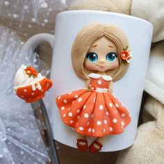 1 million+ Stunning Free Images to Use Anywhere Polymer Clay Ornaments, Polymer Clay Figures, Cute Polymer Clay, Polymer Clay Dolls, Polymer Clay Projects, Polymer Clay Creations, Handmade Polymer Clay, Polymer Clay Jewelry, Coffee Cup Crafts