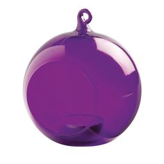 These elegant glass bauble decorations are perfect for nightime illumination throughout the year.These purple tealight holders are perfect for events such as parties, barbeques, weddings and Christmas celebrations. An elegant lighting solution, they can be used as table decorations or hung from a branch, hook or crook for magical outdoor illumination. Made from beautifully crafted, fine glass, they have an integral, moulded hook at the top with which to hang them from a tree branch, hook or…