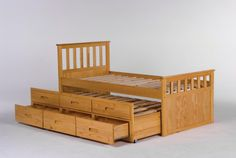 Sleepover Bed For those times when you need to provide a place for young guests, expected or otherwise, to rest their weary little heads and with ample storage in the drawers, it's the perfect space efficient solution. W1010mm x L1965mm x H1005mm (Pull out bed H690mm)