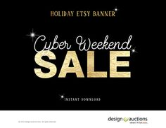 Black Friday Etsy Shop Banner Instant by designauctionsnow on Etsy
