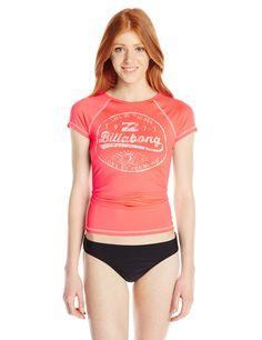 Amazon.com: Billabong Women's Shred Now Short-Sleeve Rashguard: Clothing