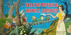 Vintage 1937 Milton Bradley Game of Snow White and the Seven Dwarfs Classic Board Games, Vintage Board Games, Walt Disney Parks, Disney Games, Milton Bradley, Vintage Fairies, Game Quotes, Seven Dwarfs, Family Game Night