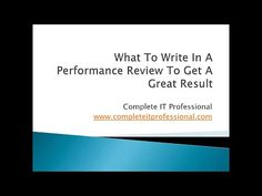 Watch Our Video How To Do A Performance Review  The Easy Way
