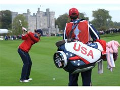 Images from the edition of the Solheim Cup at Killeen Castle in Dunsany, Ireland. Paula Creamer, Go Usa, Red And Blue, Photo Galleries, Racing, Gallery, Running, Roof Rack, Auto Racing