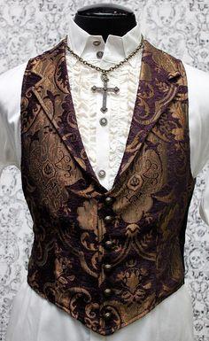 SHRINE GOTHIC ARISTOCRAT VAMPIRE VEST JACKET VICTORIAN TAPESTRY PIRAT STEAMPUNK #SHRINE