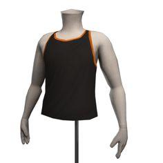 Retro Fitness Vest - Black