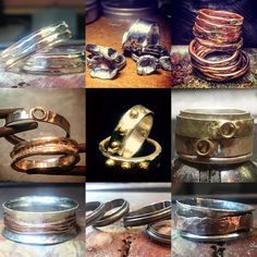 Handmade rings by Karl Smith  Here you can see a range of...