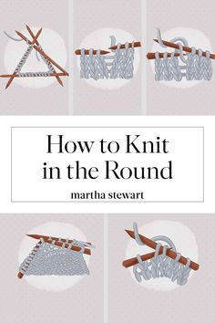 How to Knit in the Round: A Beginner's Step-by-Step Guide – Knitting patterns, knitting designs, knitting for beginners. Knitting Basics, Knitting Charts, Knitting For Beginners, Loom Knitting, Knitting Stitches, Knitting Designs, Knitting Socks, Knitting Projects, Knitting Patterns