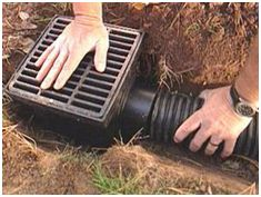 Channel drains and other drainage systems can preserve the integrity of your natural stone or concrete patio or driveway by getting rid of excess water. Description from blog.hedbergrocks.com. I searched for this on bing.com/images